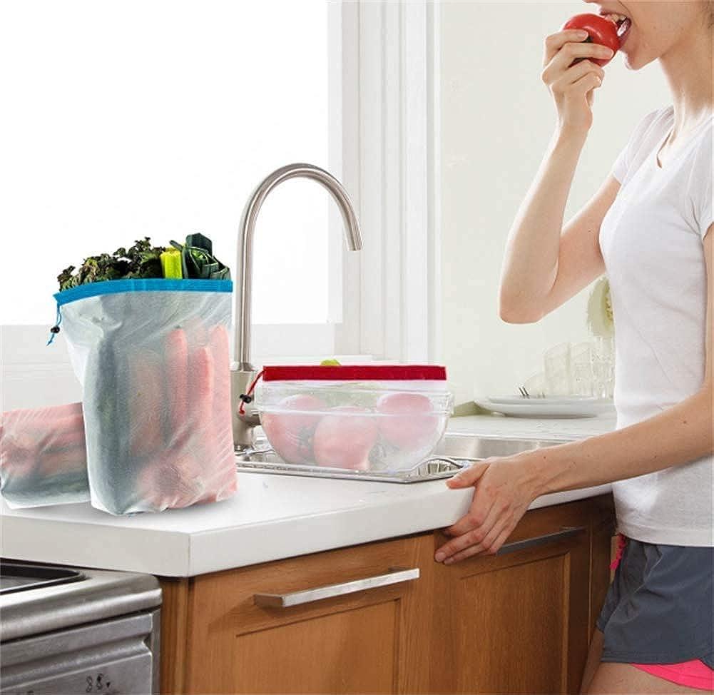 BriskyM 15 PCS Sacs de Courses Pliable Eco Lavable Sacs de Mailles Les Fruits Le Stockage Les l/égumes et Les Jouets Parfaits pour l /épicerie Le Shopping
