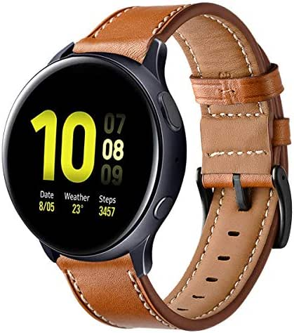 Kartice Compatible with Galaxy Watch Active2 44mm Band Active 40mm Bands Gear Sport Band Replacement 20mm Leather Strap for Galaxy Watch Active 2