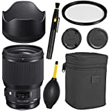 Sigma85mm f/1.4 DG HSM Art Lens for Canon EF + Essential Bundle Kit + 1 Year Warranty -International Version (No warranty)