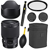 Sigma 85mm f/1.4 DG HSM Art Lens for Canon EF + Essential Bundle Kit + 1 Year Warranty -International Version (No warranty)