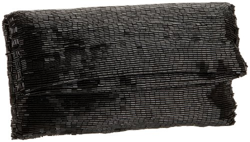 Handbag La Beaded Regale (La Regale 22149 Clutch,Black,one size)