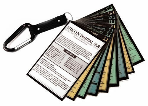 Nikon DSLR Tip Cards Cheat Sheets for D3400 D3300 D3200 D5600 D5500 D5300 D5200 D5100 D7200 D7100 D7000 D810 D800 D610 D600 D750 D700 D300S D500 1 V2 V3 Df D5 D4S D4 Photography Camera How To Guide from Whitecap Studios