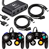 DACCKIT Gamecube Accessories Bundle Compatible with Switch/Wii U/PC - Includes 2x Gamecube Controllers, 1x Gamecube Controller Adapter, 2x NGC Extension Cords