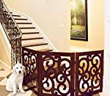 Classic Scroll Designer Folding Dog Gates - 81''W x 27''H (Each panel is 27''W)
