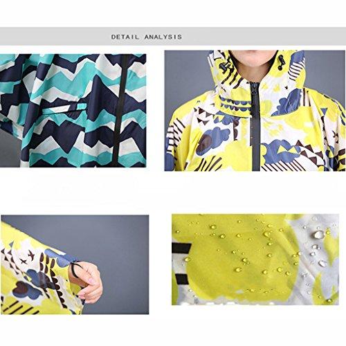 Poncho Moto Femmes couleur L B Vélo Électrique Équitation Unique Taille Manteau Adultes Mode Imperméable Imperméable Raincoat C PxwZtUWzFq