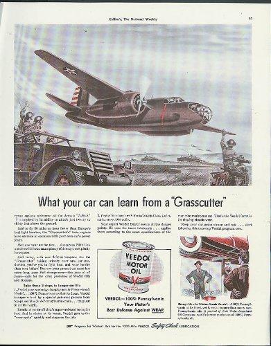 USAAF Douglas A-20A Havoc Grasscutter bomber Veedol Motor Oil ad 1941