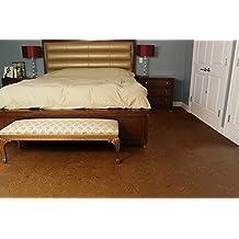 Thick Cork Tiles 8mm FORNA Cork Floor Tile - Autumn Ripple 18sq.ft/package