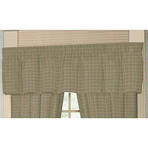 Patch Magic Purple Plaid With Light green Fabric Curtain Valance, 54-Inch by 16-Inch