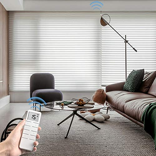 Graywind Motorized Light Filtering Cordless Shangrila Roller Blinds Remote Control Rechargeable Wireless Privacy Sheer Blind