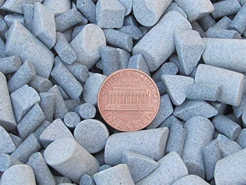 Ceramic Tumbling Media Mixed 9 Lbs. 3/16'' X 3/8'' & 3/8'' X 5/8'' Cylinder, 3/8'' X 1/4'' Triangle Lapidary Rock Tumbler Tumble G-General – Grey – Abrasive by Algrium Glassworks