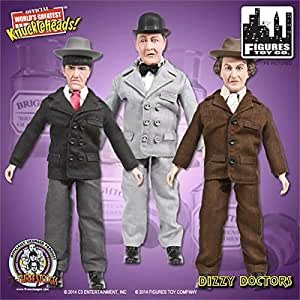 """World's Greatest Knuckleheads the Three Stooges Retro Set of 3 Action Figures from """"Dizzy Doctors!"""""""