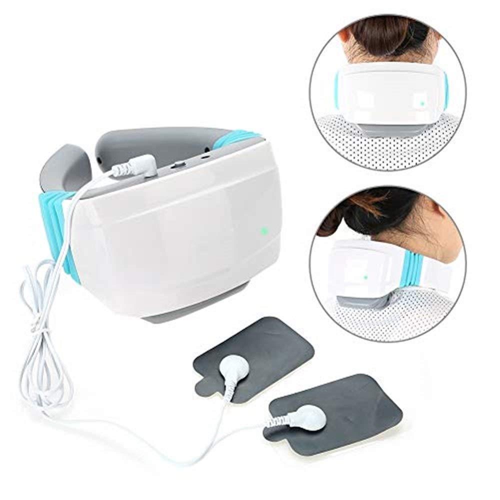 マッサージ 熱と首と肩のマッサージ、電気頸椎磁気パルスホット灸痛み緩和深部ティシュー3D混練枕マッサージ機 マッサージ クッション B07QW6RFD6