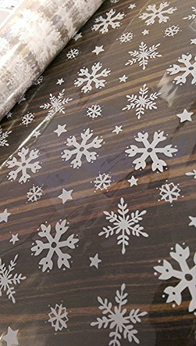 "Christmas Snowflake 7x10/"" cellophane sweet chocolate festive xmas goody bags"