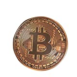 Hidream®Copper Plated Bitcoin Coin Collectible Gift BTC Coin Art Souvenir Physical DT