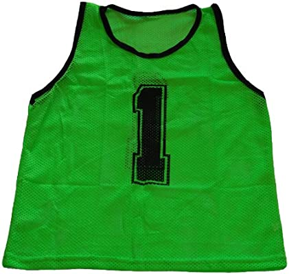 d58880e765a Amazon.com   Workoutz Numbered Adult Green Scrimmage Vest Set (12 Qty)  Soccer Pinnies   Sports   Outdoors