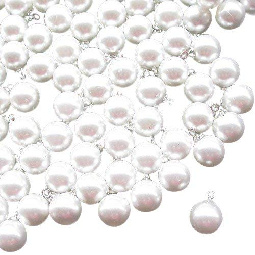 New 30pcs White Plastic Pearl Buttons 10mm Sewing Craft ()