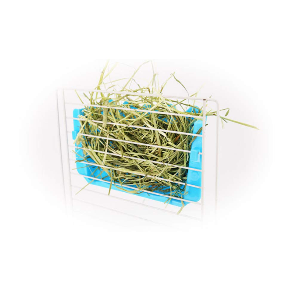 Uranusin Hierba Conejo 1PC Externa Rack Borde Ondulado Heno Dispensador para Chinchilla Conejillo De Indias De Hierba Azul del Marco del Estante