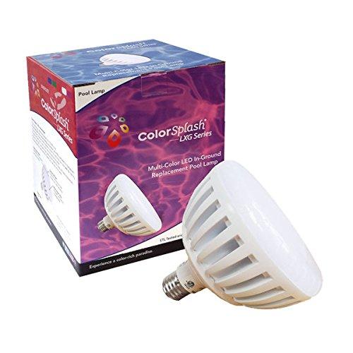 J&J Equipment Color Splash LXG Multi-Color LED Pool Lamp 120V LPL-P2-RGB-120