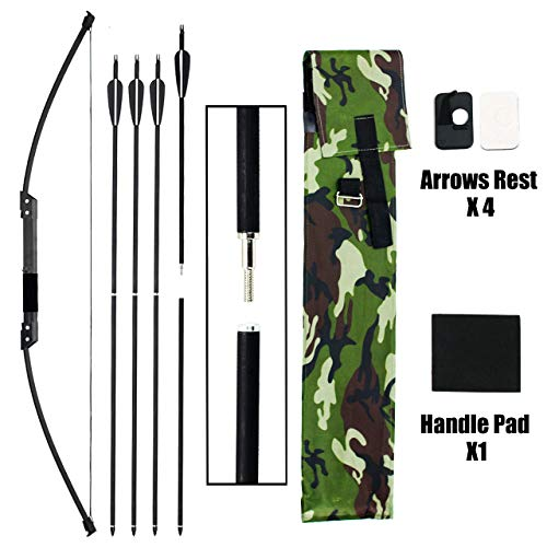 SinoArt Survival Bow Compact Takedown Bow with 4 Takedown Arrows (25Lbs)