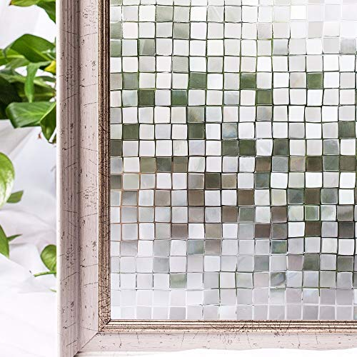 Pechalar - 45 x 200cm Window Film Privacy Glass Sticker PVC Waterproof No-Glue 3D Static Decorative Home Decor