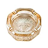 ZDD Crystal Glass Ashtray/Creative Personality Home Practical Ashtray/Decorative Ornaments Gift (ø15cm H5.5cm)