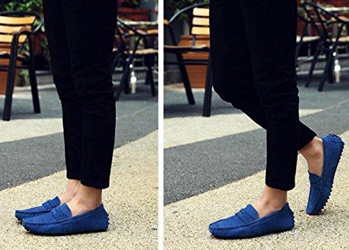 Uomini Scarpe Britanniche Piselli Pelle Uomo YXLONG Scarpe E Scarpe Blue Da L'estate Primavera Casual Da Uomo In Nuovi wq6IUa