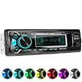 XOMAX XM-R266 Car stereo with Bluetooth Handsfree I Smartphone Charging Function via 2nd USB Port I Carbon Look I 7 LED Colours Adjustable I USB, SD, MP3, AUX I 1 DIN
