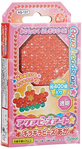 Aqua Beads Art glitter red beads (japan import) by Epoch