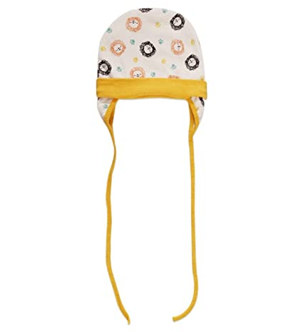 456c48d46 Ben Benny Cap Cover Ears Multi Print With Yellow Rib, 6 to 12 Months