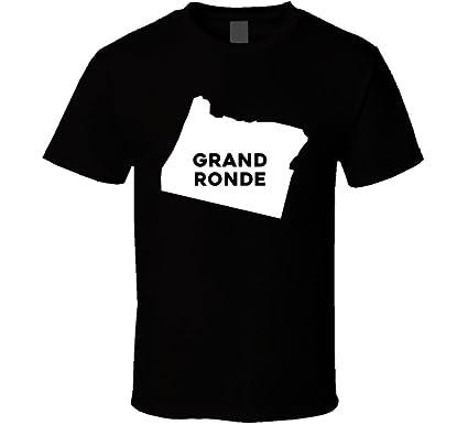 Grand Ronde Oregon Map.Amazon Com Grand Ronde Oregon City Map Usa Pride T Shirt Clothing