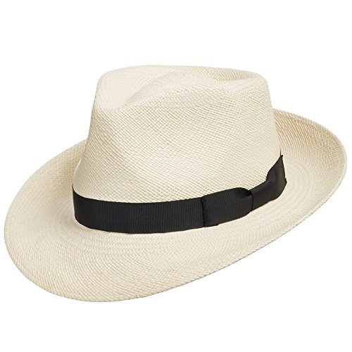 Genuine Havana Retro Panama Straw Hat Classic Lightweight 7 1/2 - Straw Retro Hat