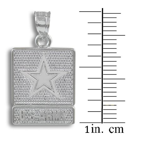 10 ct 471/1000 Or Blanc US ARMY- Pendentif