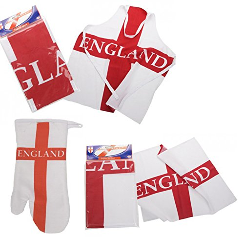 Homestreet England Supporters Scarf Satin Scarf with Come on England Red white and Blue with Tassles