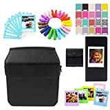 Uniuni Accessory Bundles Set - Black Case/Films Storage Bag/Frames/Ablum/Stickers/Lace Photo Border/Wooden Clips for Fujifilm Instax Share SP-3 Smartphone Printer
