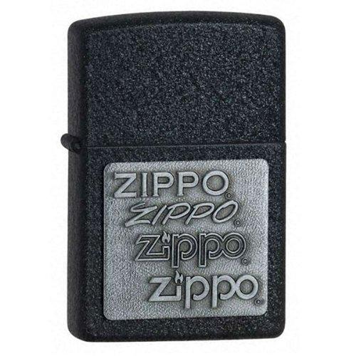 - Zippo Black Crackle, Pewter, Emblem