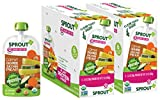 Sprout Organic Baby Food Pouches, Stage 2 Sprout Baby Food, Carrot Chickpeas Zucchini Pear, 3.5 Ounce, 12 Count; 2 Grams of Plant Powered Protein, USDA Organic, Non-GMO, Nothing Artificial