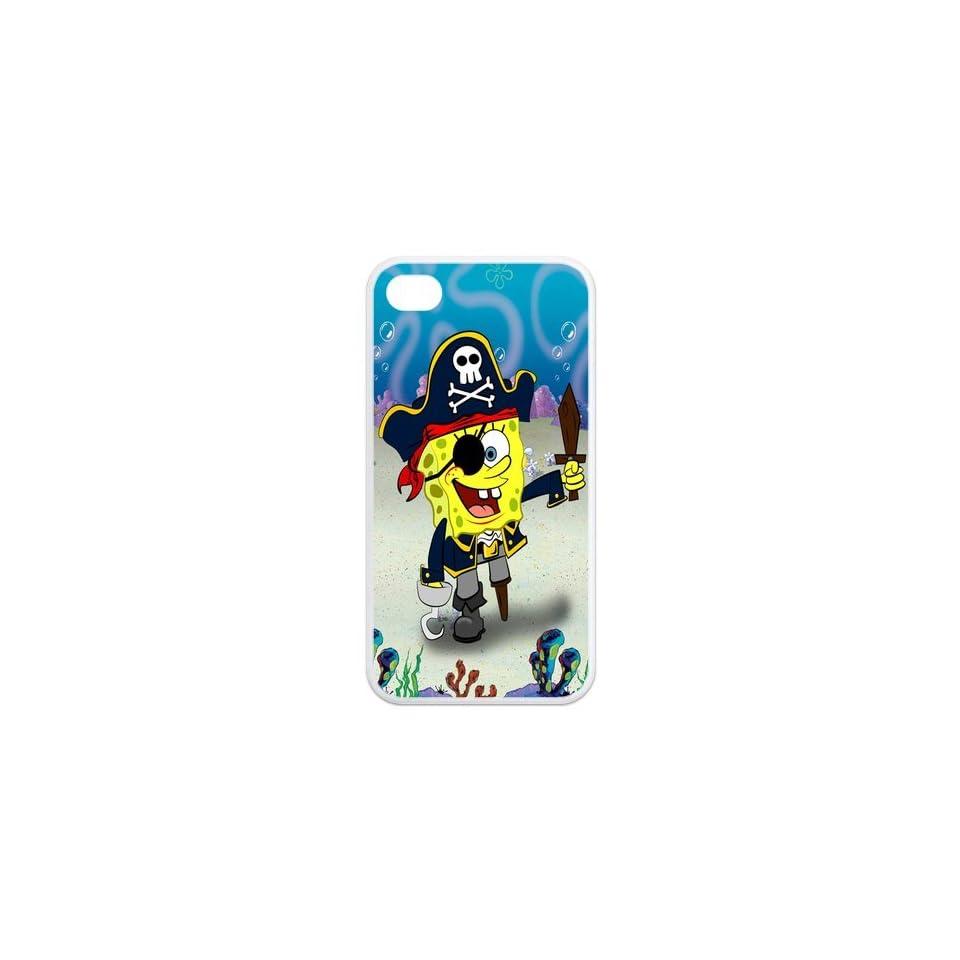 Mystic Zone SpongeBob SquarePants iPhone 4 Case for iPhone 4/4S Cover Famous Cartoon Fits Case KEK1062