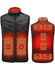 joyvio Elektrisch verwarmd vest voor heren, winddicht USB-opladen Verwarmde bodywarmer met bodywarmer voor heren