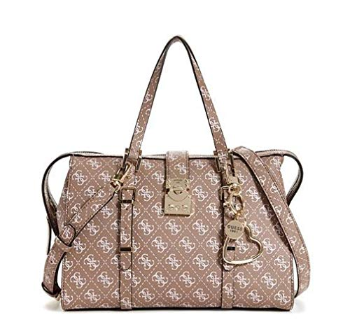 Guess Women's Joslyn Mocha Monogram Satchel Handbag