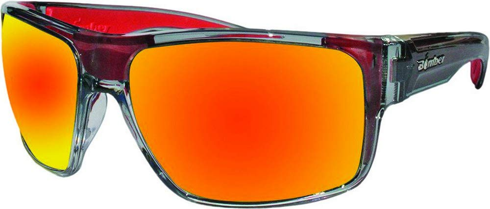 Bomber Sunglasses - Mana Bomb 2 Tn Crystal Smk Frm / Red Mirror Pc Safety Lens / Red Foam by Bomber Floating Eyewear (Image #1)