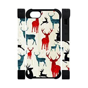 Canting_Good,Deer, Custom Dual-Protective 3D Polymer Case for IPhone 5 by lolosakes by lolosakes