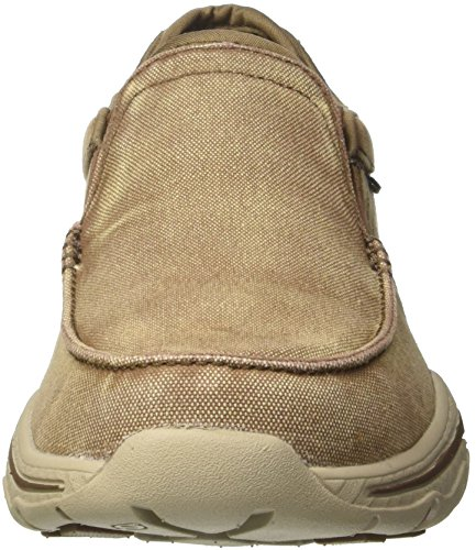 Light Moseco Creston Mocassini Uomo Skechers Brown Marrone S1H4wSTq