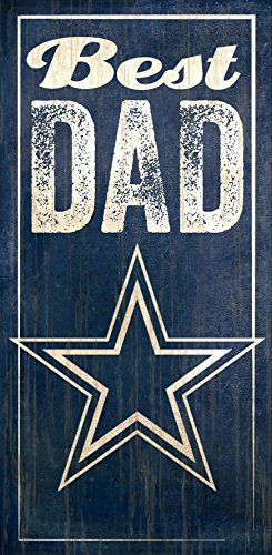 Fan Creations Dallas Cowboys Best Dad Sign, Multicolored ()