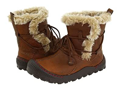 EARTH CENTRAL LADIES WINTER BOOTS DARK PEANUT BROWN 6.5 M
