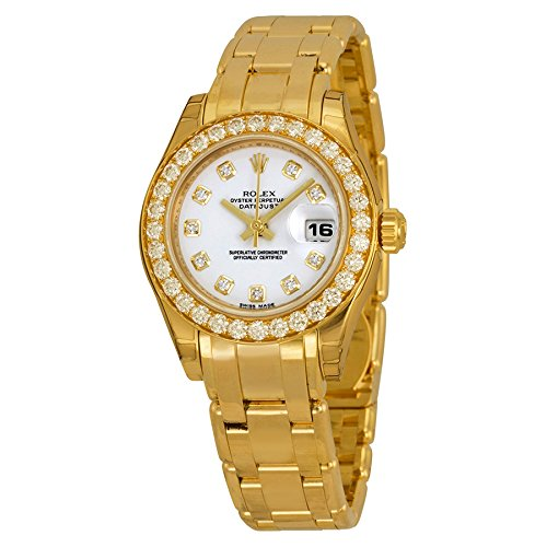 Womens Masterpiece Oyster Perpetual Datejust Diamond 18k Yellow Gold