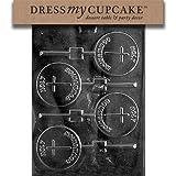 Dress My Cupcake DMCR026SET Chocolate Candy Mold, Holy Communion Lollipop, Set of 6