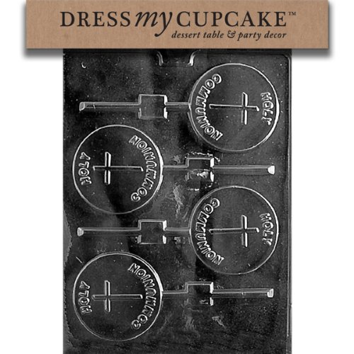 Dress My Cupcake DMCR026SET Chocolate Candy Mold, Holy Communion Lollipop, Set of 6 by Dress My Cupcake