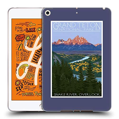 (Official Lantern Press Grand Teton National Park Soft Gel Case Compatible for iPad Mini (2019))