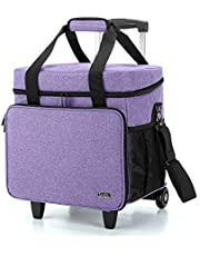 Luxja Serger Case for Most Standard Overlock Machines, Serger Bag with Accessories Storage Pockets (Patented Design)
