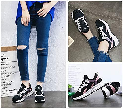De Black Mujer Tendencia Transpirable Casuales Deportivo Running Calzado Shoes Damas Zapatos Ptrzrps Fitness Coreano Syw Confortable qw70Xw4